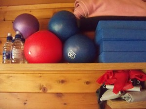 Pilates classes and small equipment