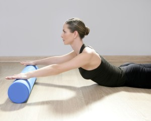 Pilates in St Albans with foam roller