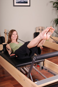 pilates reformer in the log cabin